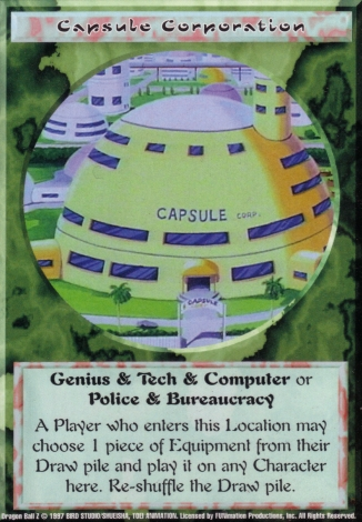 Scan of 'Capsule Corporation' Ani-Mayhem card