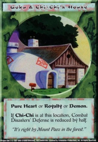 Scan of final 'Goku & Chi-Chi's House' Ani-Mayhem card