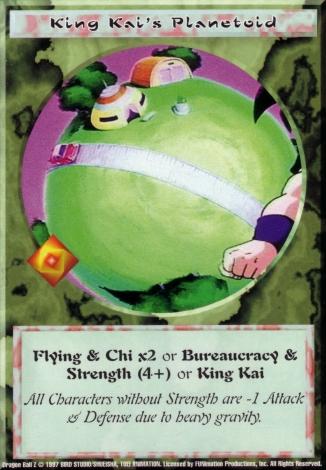 Scan of final 'King Kai's Planetoid' Ani-Mayhem card