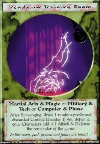 Scan of final 'Pendulum Training Room' Ani-Mayhem card
