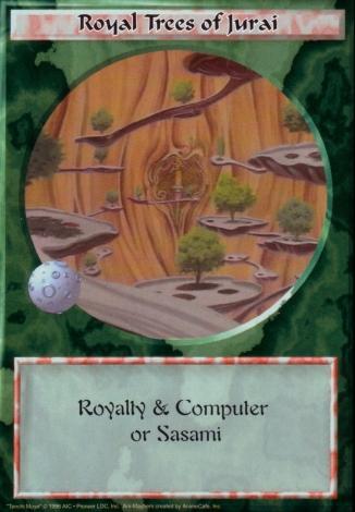 Scan of 'Royal Trees of Jurai' Ani-Mayhem card