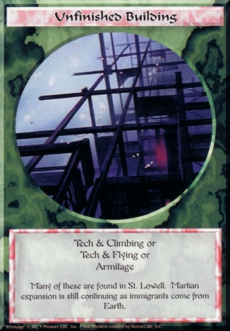 Scan of 'Unfinished Building' Ani-Mayhem card
