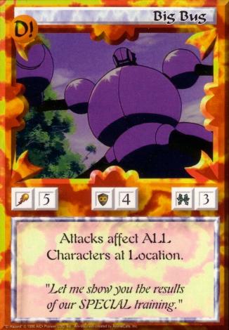 Scan of 'Big Bug' Ani-Mayhem card