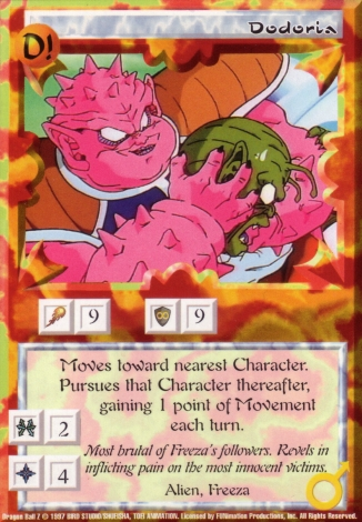 Scan of 'Dodoria' Ani-Mayhem card