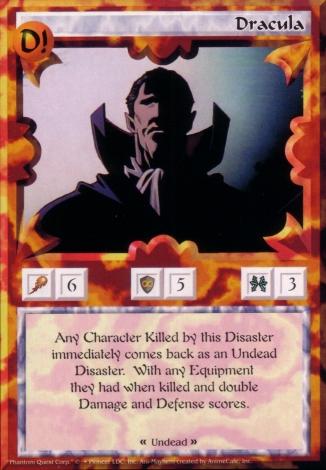 Scan of 'Dracula' Ani-Mayhem card