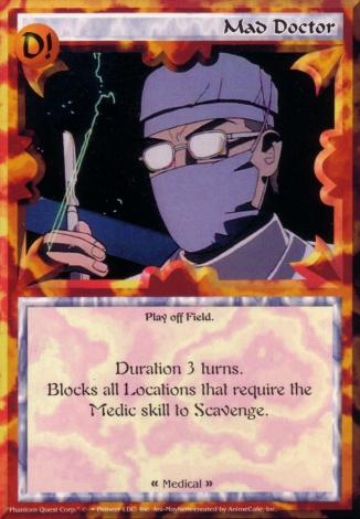 Scan of 'Mad Doctor' Ani-Mayhem card