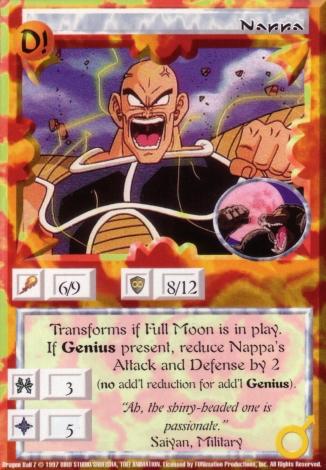Scan of final 'Nappa' Ani-Mayhem card