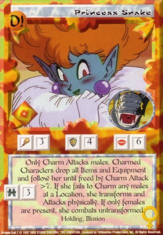 Scan of 'Princess Snake' Ani-Mayhem card