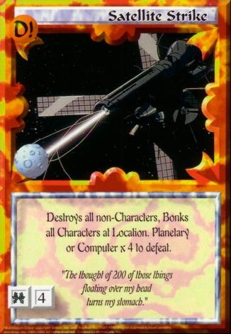 Scan of 'Satellite Strike' Ani-Mayhem card