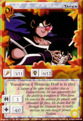 Scan of 'Tares' Ani-Mayhem card