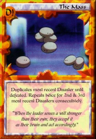 Scan of 'The Mass' Ani-Mayhem card