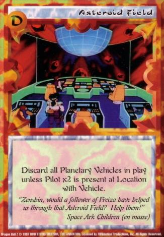 Scan of final 'Asteroid Field' Ani-Mayhem card