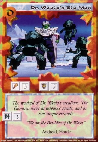 Scan of final 'Dr. Weelo's Bio Men' Ani-Mayhem card