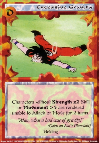 Scan of final 'Excessive Gravity' Ani-Mayhem card