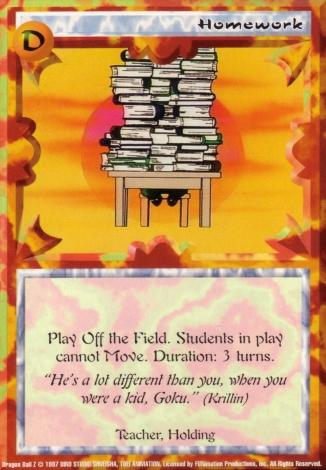 Scan of 'Homework' Ani-Mayhem card