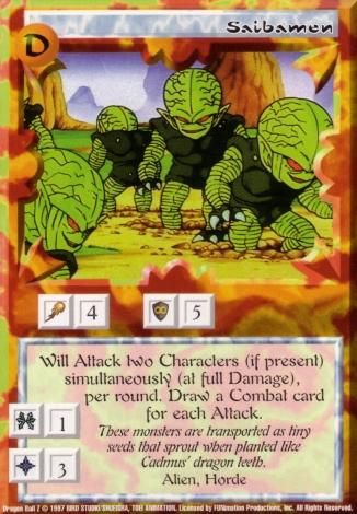 Scan of final 'Saibamen' Ani-Mayhem card