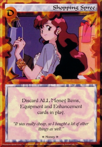 Scan of 'Shopping Spree' Ani-Mayhem card
