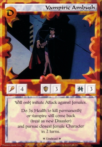 Scan of 'Vampiric Ambush' Ani-Mayhem card
