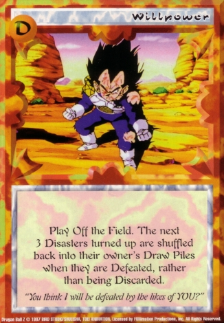 Scan of 'Willpower' Ani-Mayhem card