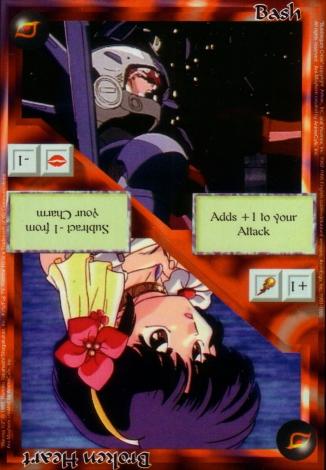 Scan of 'Bash / Broken Heart' Ani-Mayhem card