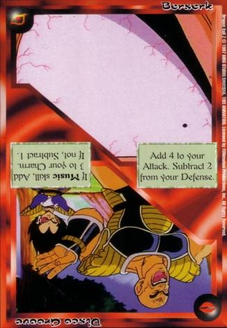 Scan of 'Berserk / Disco Groove' Ani-Mayhem card