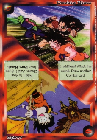 Scan of 'Double Blow / Gusto' Ani-Mayhem card