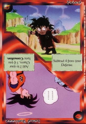 Scan of 'Fried / Lead Balloon' Ani-Mayhem card