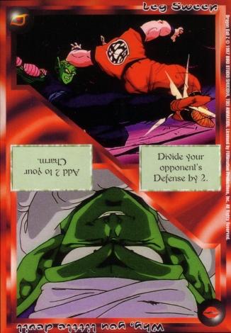 Scan of 'Leg Sweep / Why, you little devil' Ani-Mayhem card