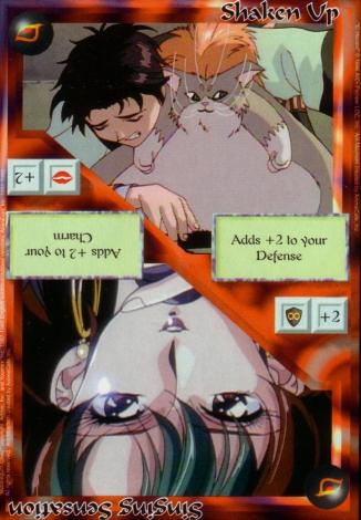 Scan of 'Shaken Up / Singing Sensation' Ani-Mayhem card