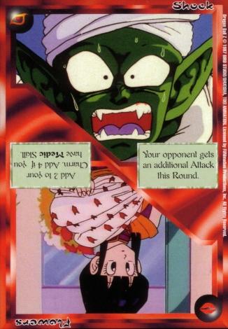 Scan of final 'Shock / Flowers' Ani-Mayhem card