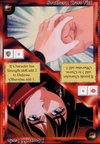 Scan of 'Southern Cross Fist / Mournful Look' Ani-Mayhem card