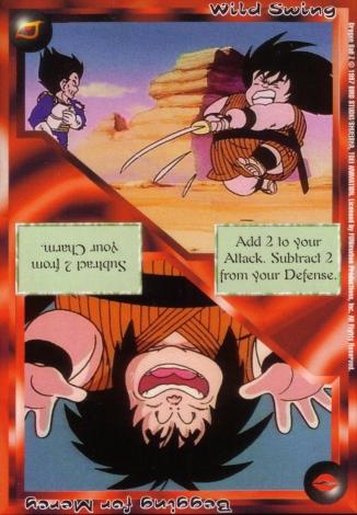 Scan of final 'Wild Swing / Begging for Mercy' Ani-Mayhem card