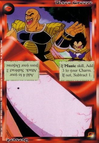 Scan of 'Disco Groove / Berserk' Ani-Mayhem card