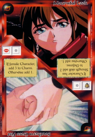 Scan of 'Mournful Look / Southern Cross Fist' Ani-Mayhem card