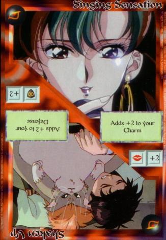 Scan of 'Singing Sensation / Shaken Up' Ani-Mayhem card