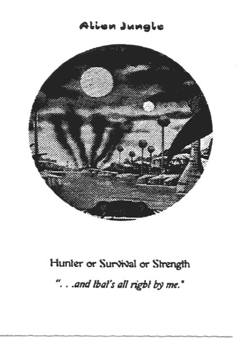 Scan of 'Alien Jungle' playtest card
