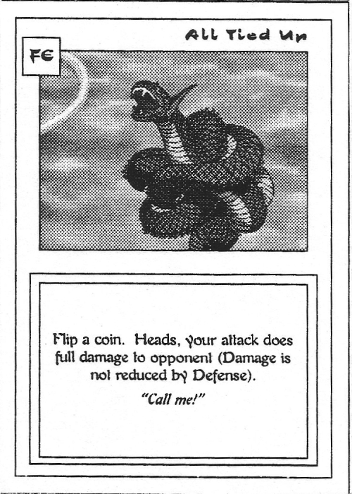 Scan of 'All Tied Up' playtest card