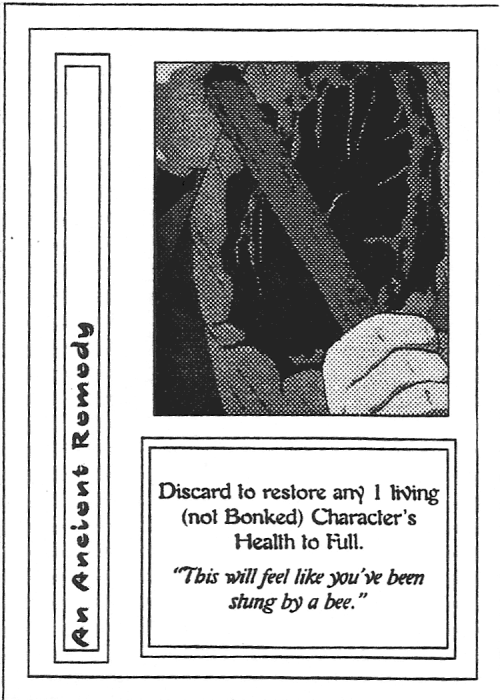 Scan of 'An Ancient Remedy' playtest card