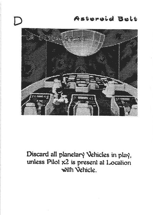 Scan of 'Asteroid Belt' playtest card