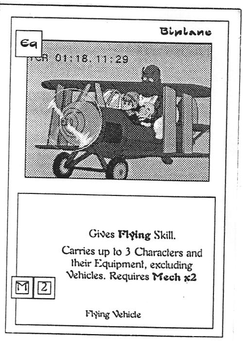 Scan of 'Biplane' playtest card