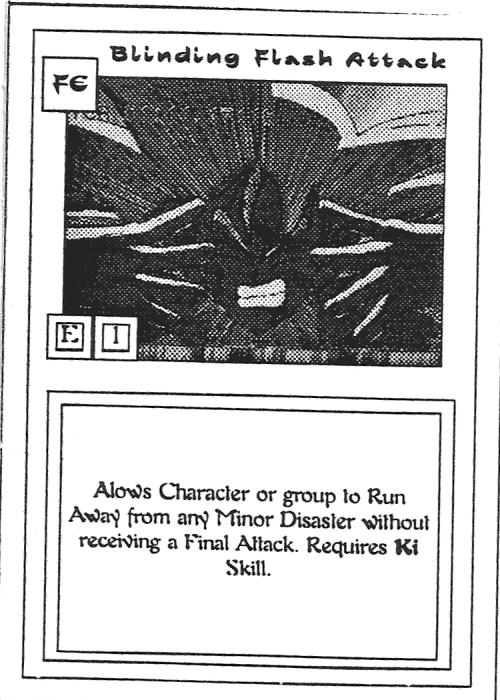 Scan of 'Blinding Flash Attack' playtest card