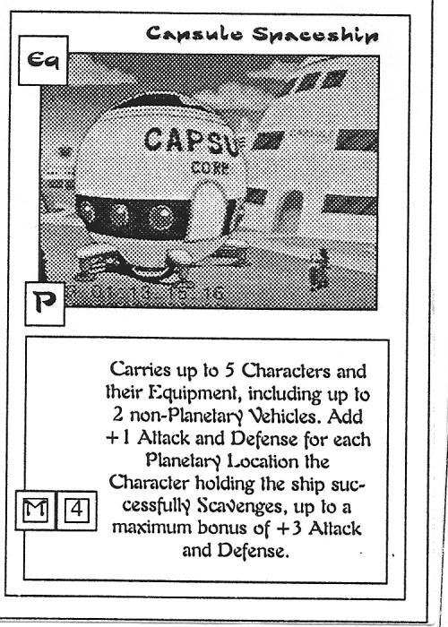 Scan of 'Capsule Spaceship' playtest card