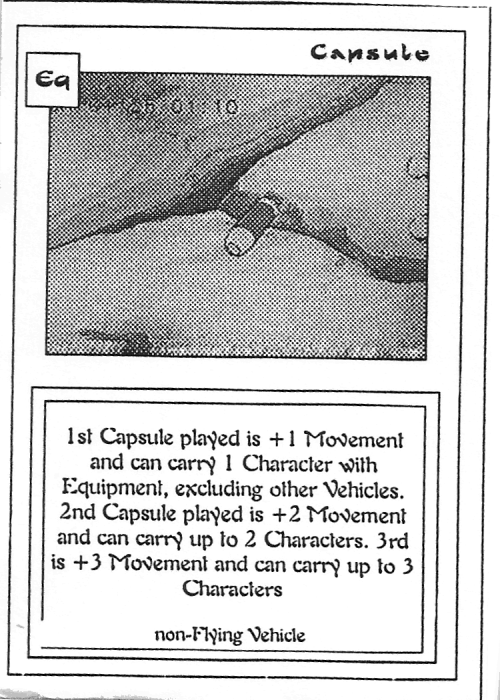 Scan of 'Capsule' playtest card