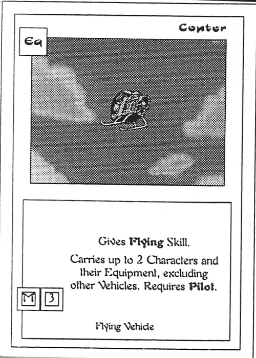 Scan of 'Copter' playtest card