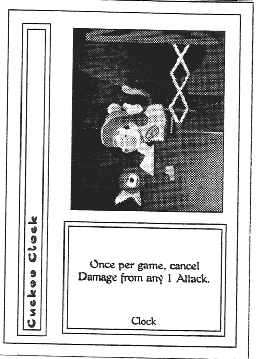 Scan of 'Cuckoo Clock' playtest card