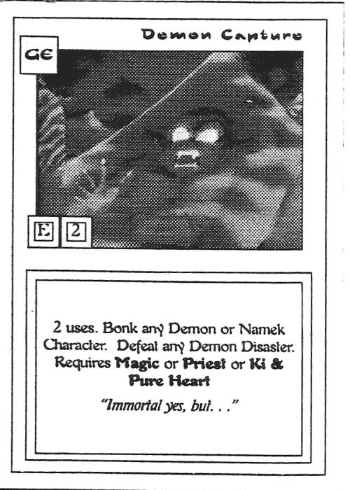 Scan of 'Demon Capture' playtest card