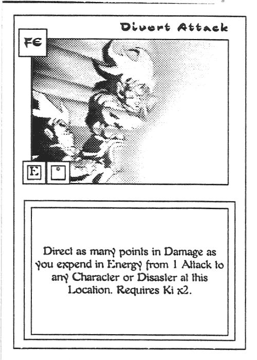 Scan of 'Divert Attack' playtest card