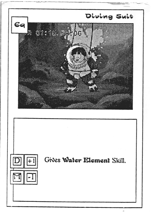 Scan of 'Diving Suit' playtest card