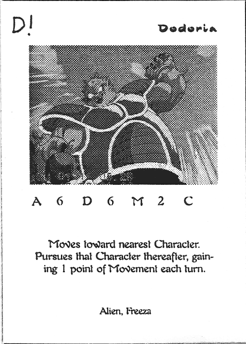 Scan of 'Dodoria' playtest card