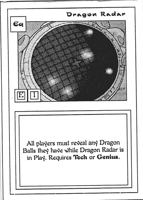 Scan of 'Dragon Radar' playtest card